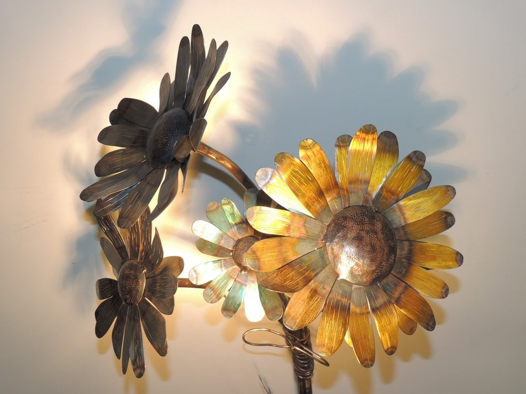 zoom bouquet tournesol en metal