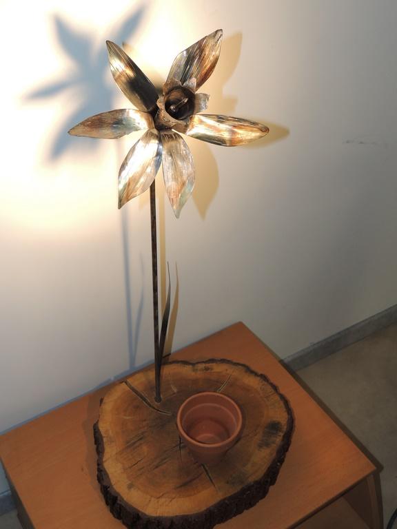Jonquille décoration métallique